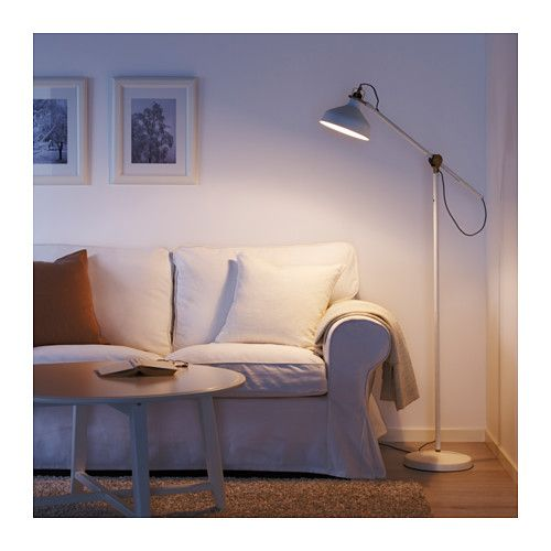 Ikea ranarp floor reading lamp with led bulb you can easily direct the light where you want it because the lamp arm and head are adjustable