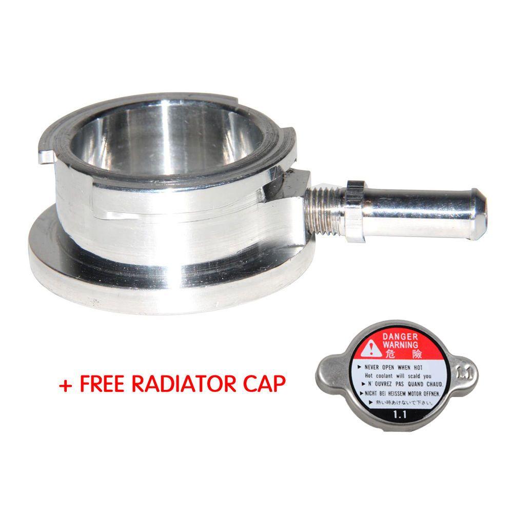 "Anodized black Billet Aluminum Coolant pressure cap 32mm ID 1.25/"""