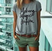 d8e51044425 Summer Casual T shirt Graphic Tees Women Letters Printed Round Neck ...