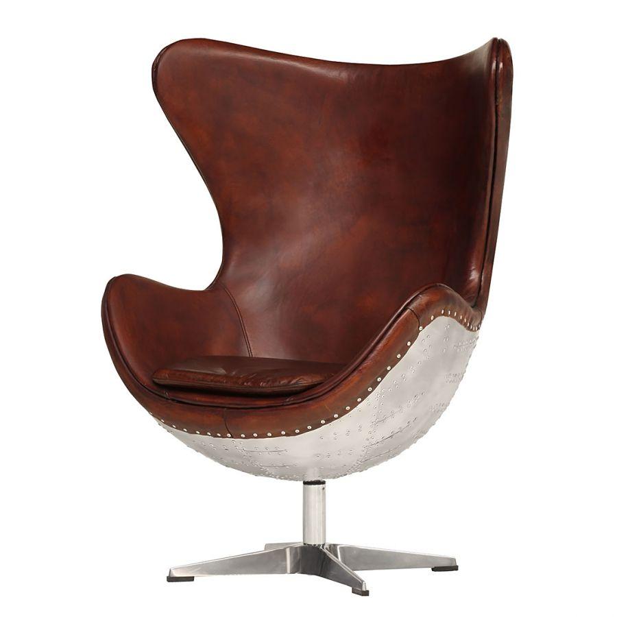 echtleder drehsessel garonne braun chairs along the. Black Bedroom Furniture Sets. Home Design Ideas
