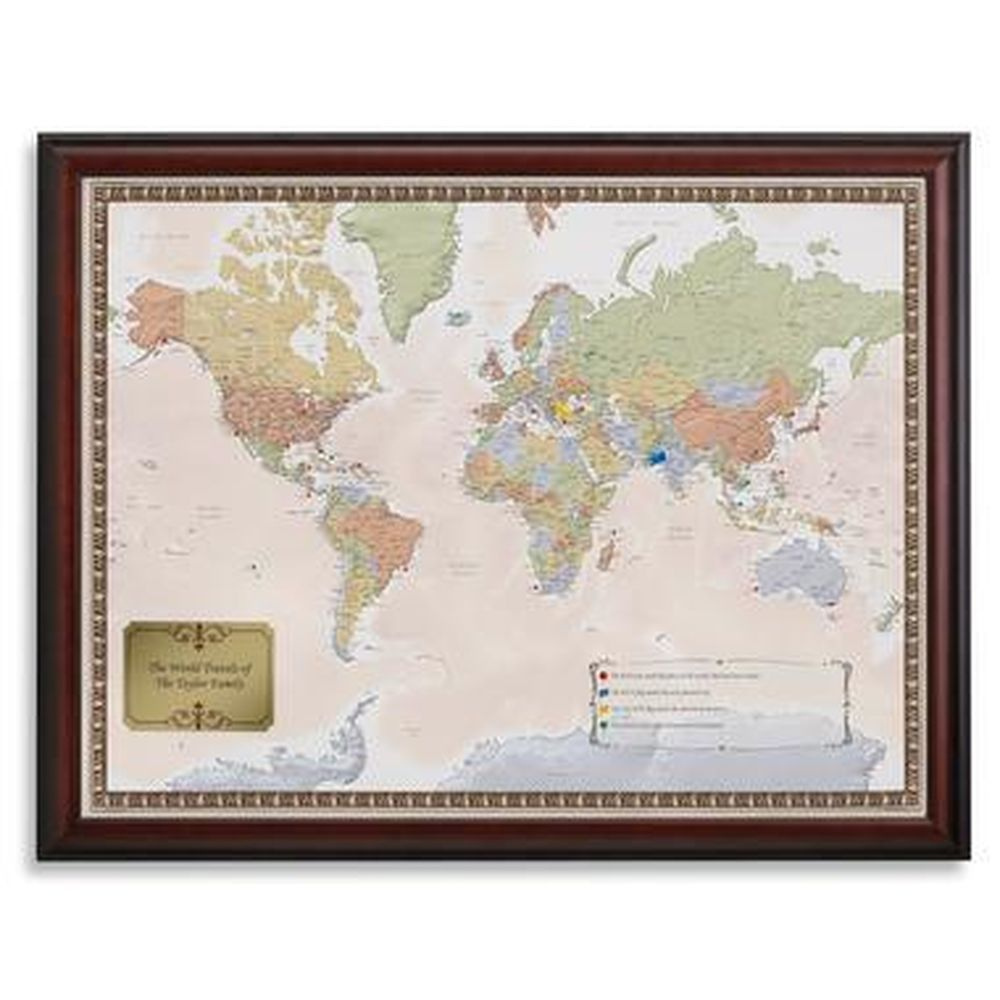sky mall world map Personalized World Map World Travel Map And Decor Skymall Com