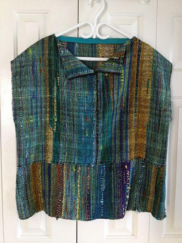 Ravelry: UnderSaskSkies\' Popover Saori Style Top | hand woven ...