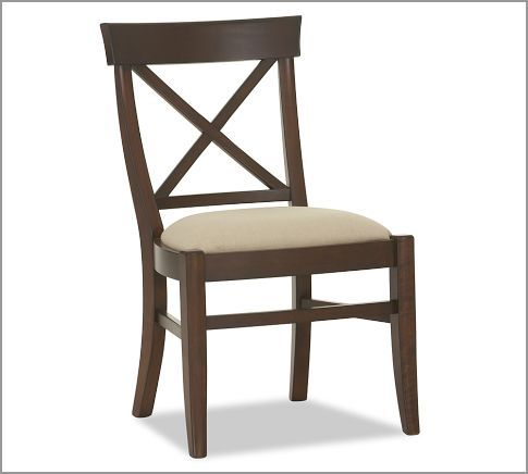 Aaron Upholstered Chair |Mahogany Pottery Barn