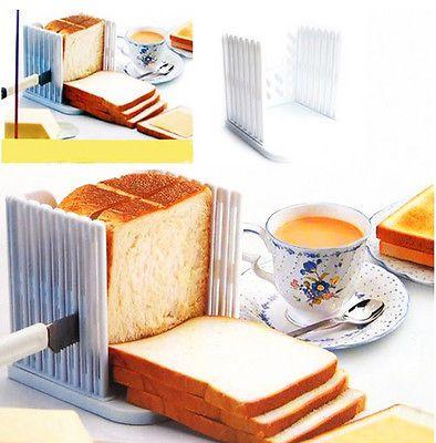 Bread Slicer Cutter Mold Maker Slicing Cutting Guide Loaf Toast Kitchen New