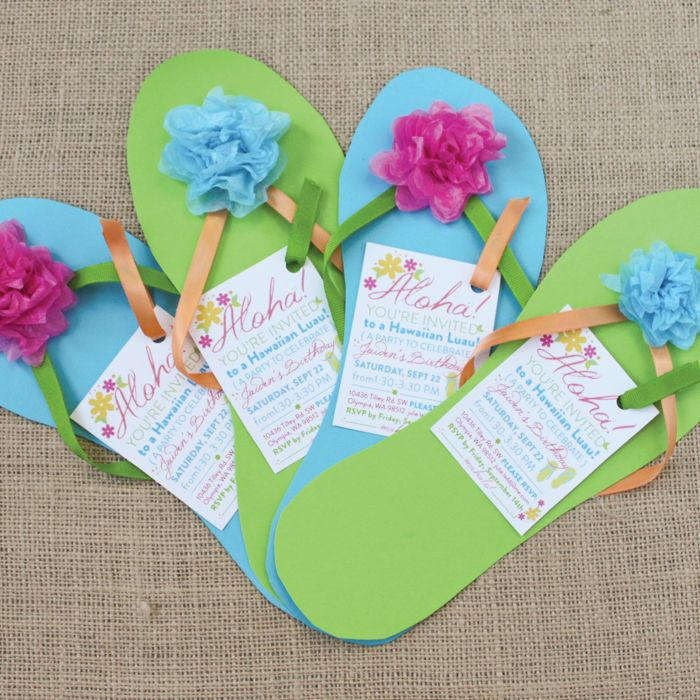 images of luau party invitations – Flip Flop Party Invitations