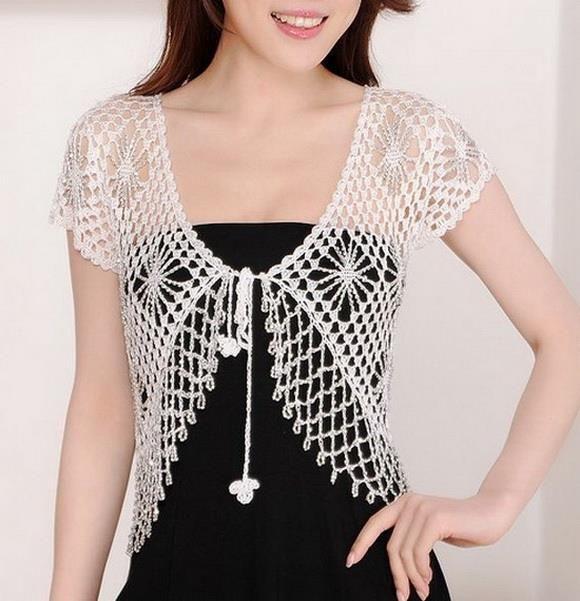 Crochet Sweaters: Free Crochet Bolero Pattern - Crochet With Crystal ...