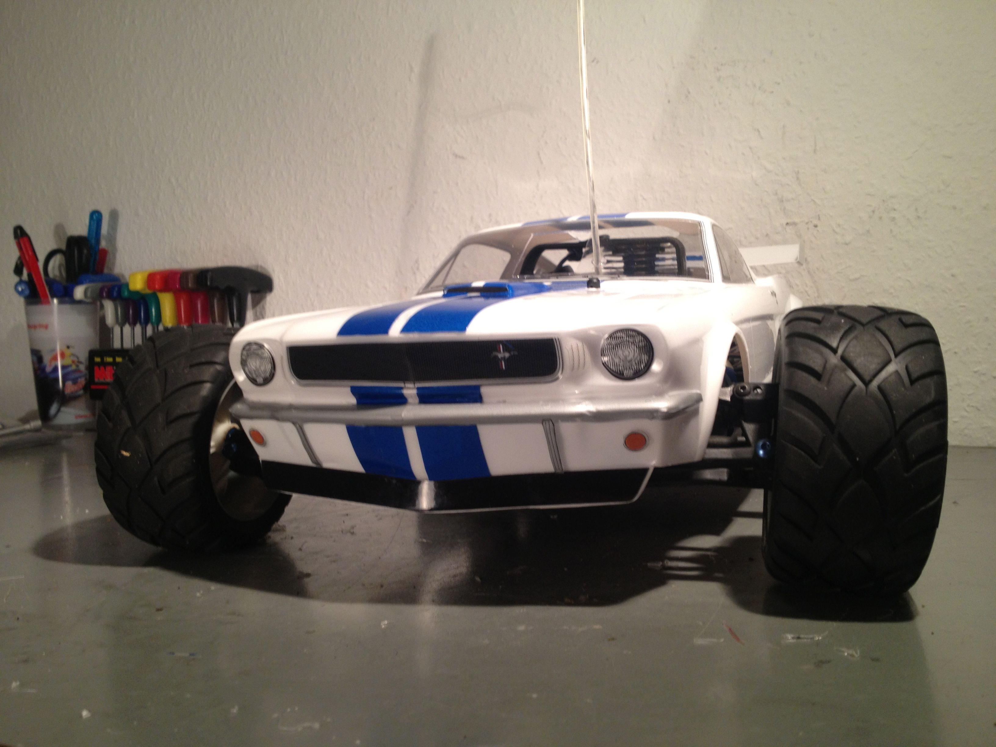 Shelby Mustang Body On Traxxas Jato Remote Control Rc