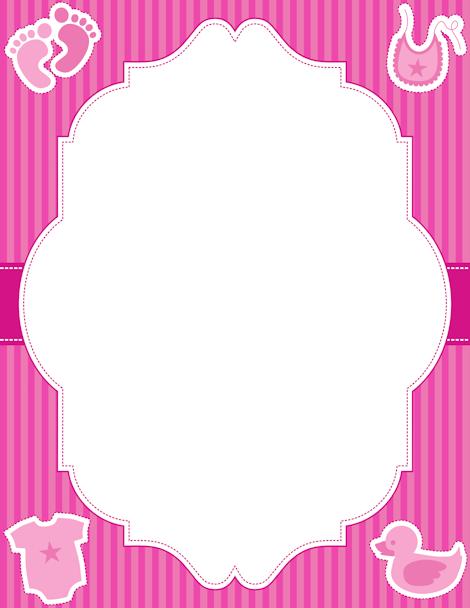 Baby Girl Border Clip Art Page Border And Vector Graphics Kartu Bayi Kartu Kelahiran Anak