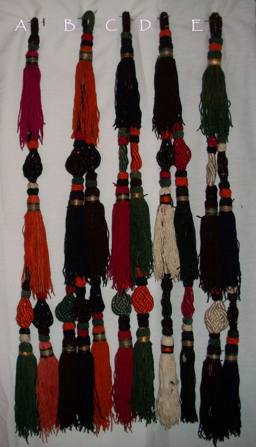 Kuchi Cotton Fringe Tassel  The tassels can be attached to a belt or integrated in your hair.