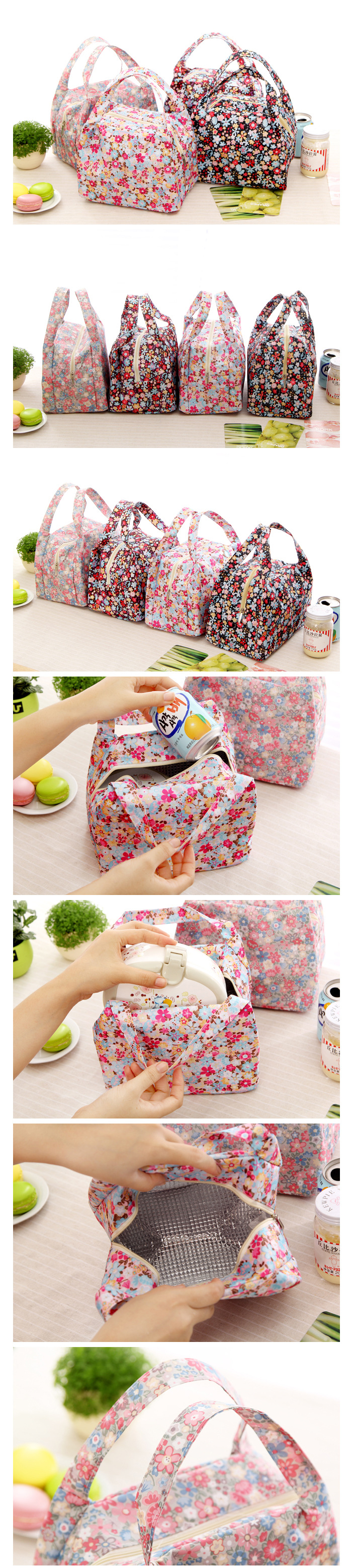 Oxford Waterproof Lunch Tote Bag Picnic Cooler Insulated