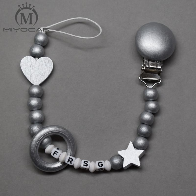Any Name Personalised Dummy Clip//Strap//Teether Chain Holder Any colour.