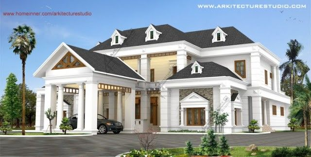 High Quality Kerala Luxury Colonial Style Home Design
