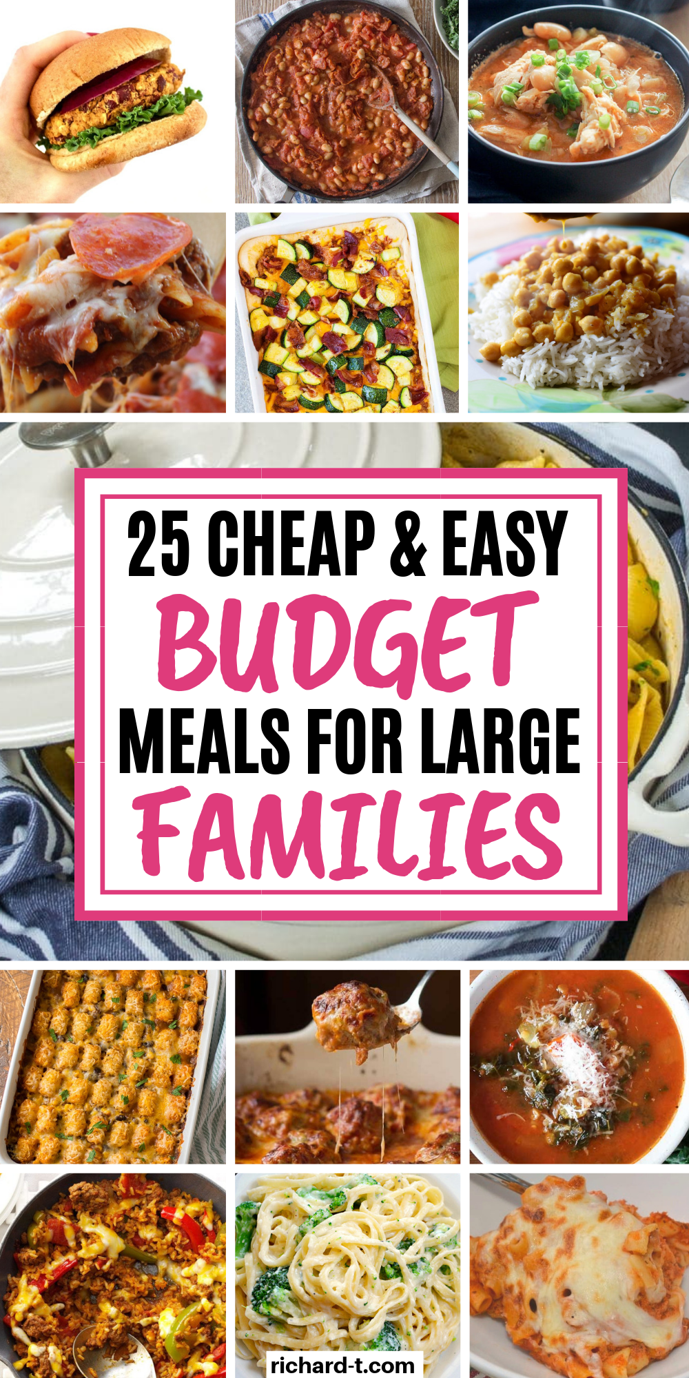 25 Budget Meals For Large Families That Are Cheap & Easy