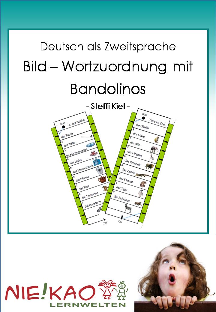 DaZ- Bild-Wortzuordnung mit Bandolinos von www.niekao.de
