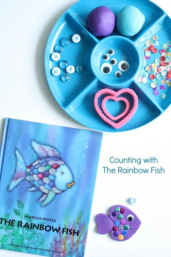 Rainbow Fish Counting Play Dough Rainbow Fish Rainbow