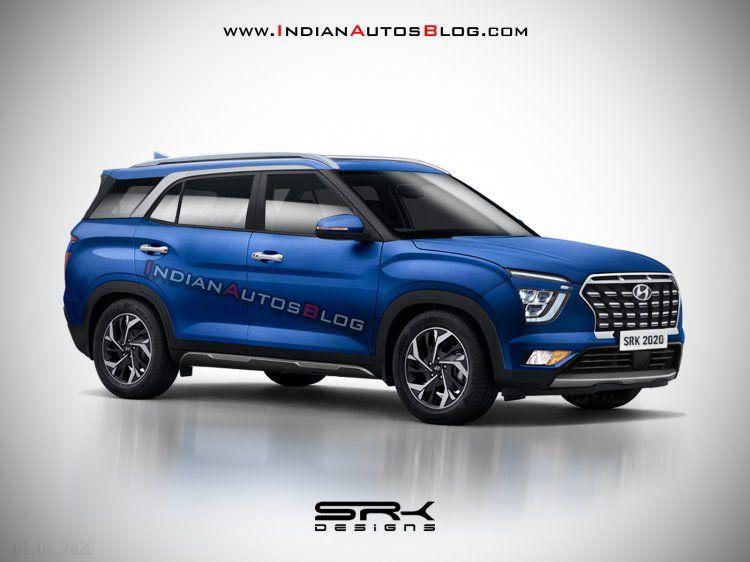7 Seat Hyundai Creta 2021 Launch Iab Rendering In 2020 Hyundai Hyundai Motor Seater