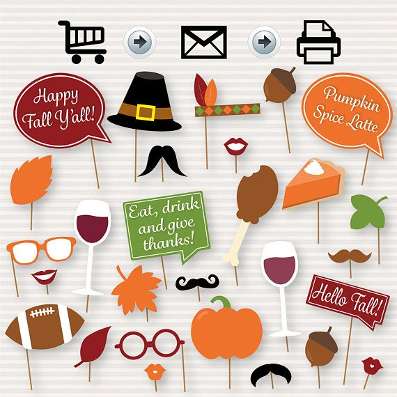 Fall Party Printable Photo Booth Props Fall Party Fall