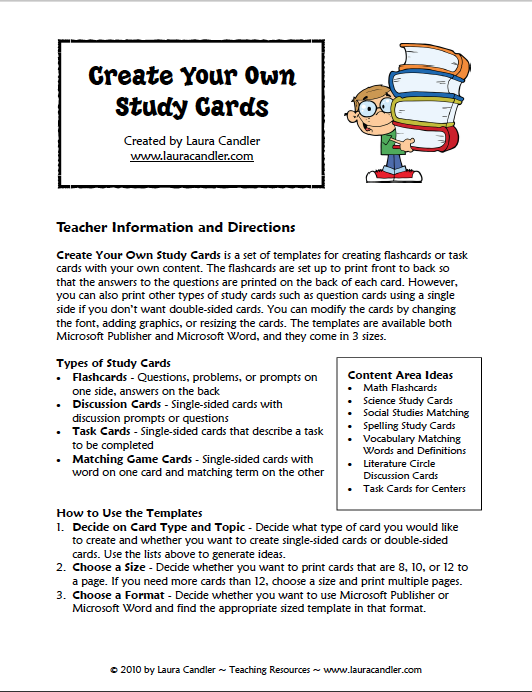 Have you ever wanted to create your own study cards or flashcards ...
