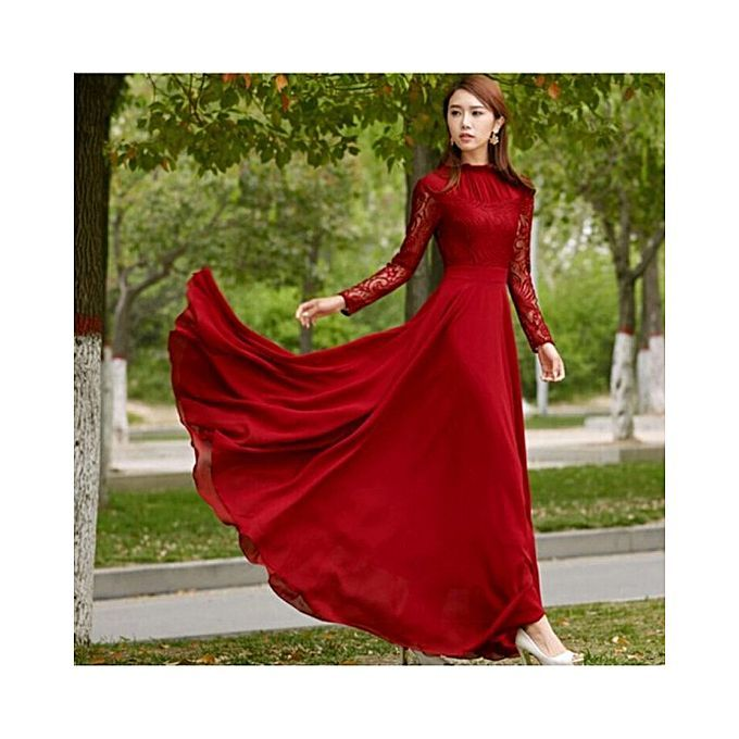 808e75a9aad Buy Charji Shop Red Lace Chiffon Maxi for Women Online at Best Price in  Pakistan