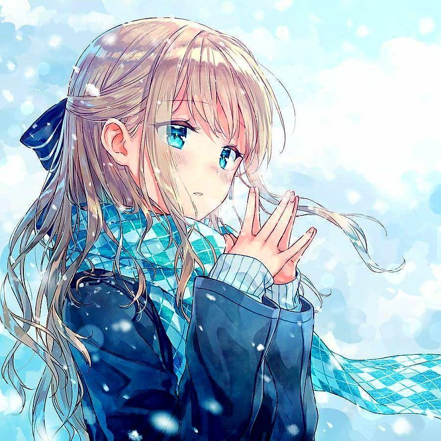 Cô Gái Phim Hoạt Hình, Manga Anime, Tóc Vàng Hoe, Phát Họa,