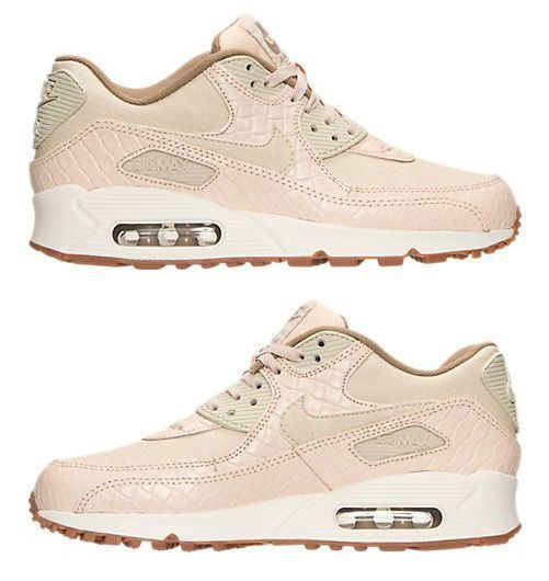 official photos bdeee bcb1a NIKE AIR MAX 90 PREMIUM WOMEN s RUNNING OATMEAL - KHAKI - SAIL AUTHENTIC  NEW USA
