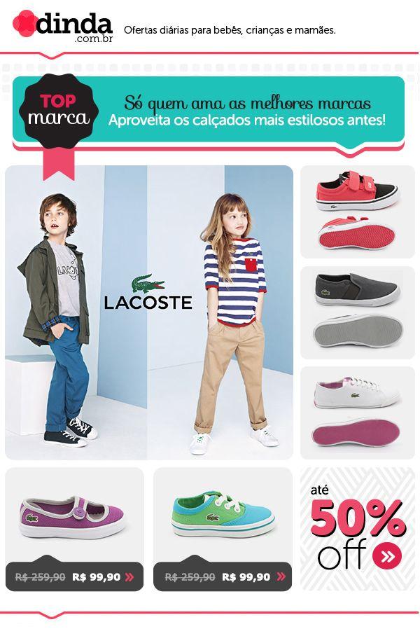 Newsletter para divulgação da campanha de sapatos da marca Lacoste.
