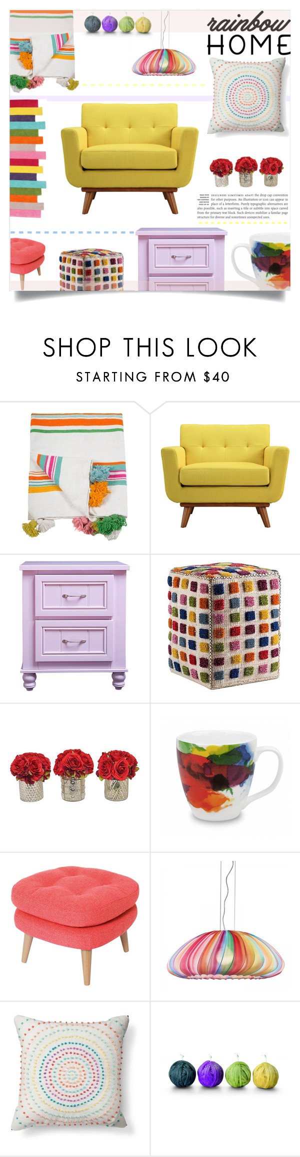 """""""Untitled #540"""" by millilolly ❤ liked on Polyvore featuring interior, interiors, interior design, home, home decor, interior decorating, Indigo&Lavender, Dot & Bo, The French Bee and Könitz"""