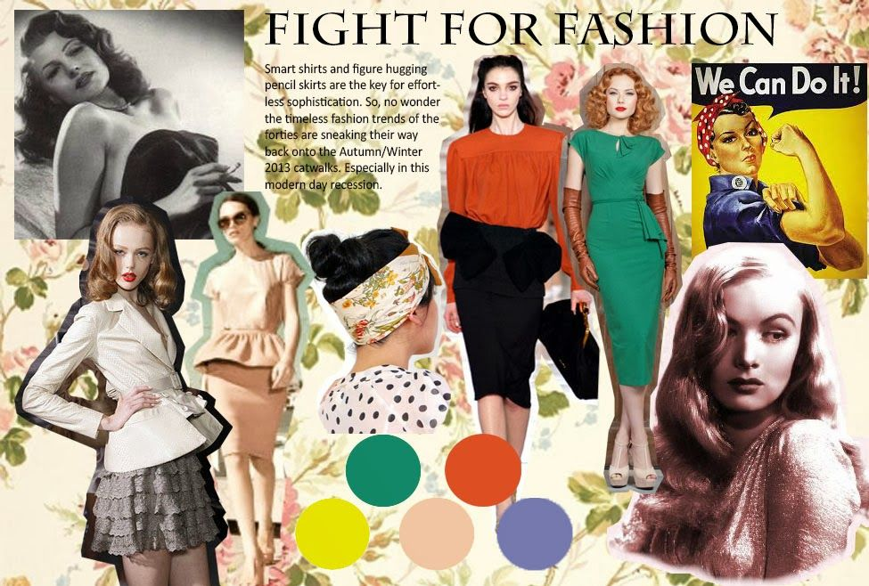 1940 S Mood Board Digital Portfolio Mood Board Inspiration Mood Board Fashion Fashion Mood Board