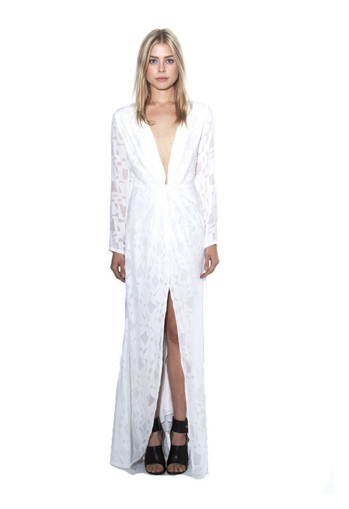 Murietta gown white stone cold fox court house for Stone cold fox wedding dress