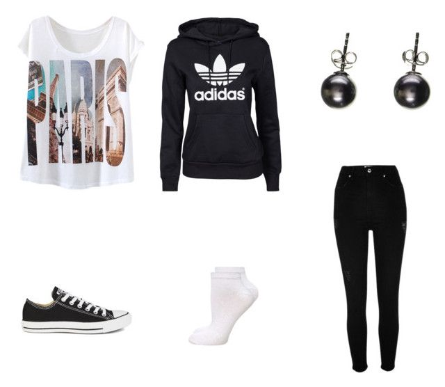 """""""Tom boy"""" by caseylouiseipad on Polyvore featuring River Island, adidas Originals, Converse, Dorothy Perkins and Black"""