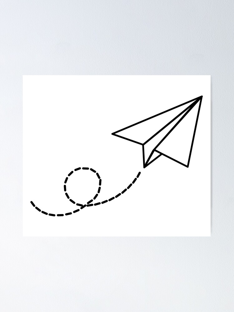 Paper Airplane Poster By Tealgiraffe In 2021 Paper Airplane Tattoos Paper Airplane Drawing Airplane Drawing