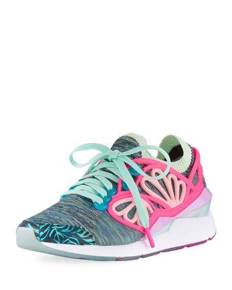PUMA X Sophia Webster Pearl Cage Graphic Knit Trainer Sneaker, Multi, Multi  Pattern.