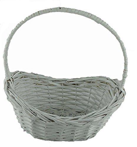 Topot 60 Piece White Painted Mini Willow Baskets Wholesale Lot Basket White Paints Mini