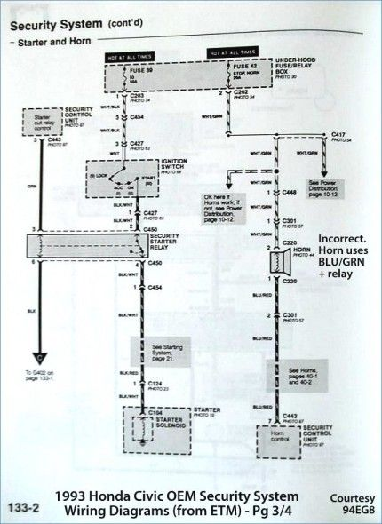 1994 Honda Accord Alarm Wiring Diagram Di 2020