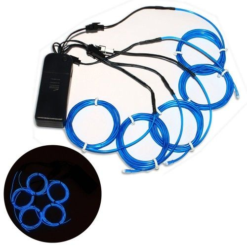 Strobing Blue Brand new 5x 1 metres Electro Luminescent ...