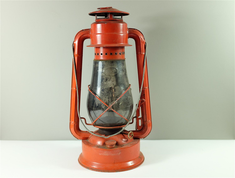 Vintage Dietz Junior Large Red Lantern No 129 Gas Lamp Large Hurricane Glass Railway Lantern Camping Lantern Red Lantern Gas Lamp Lanterns