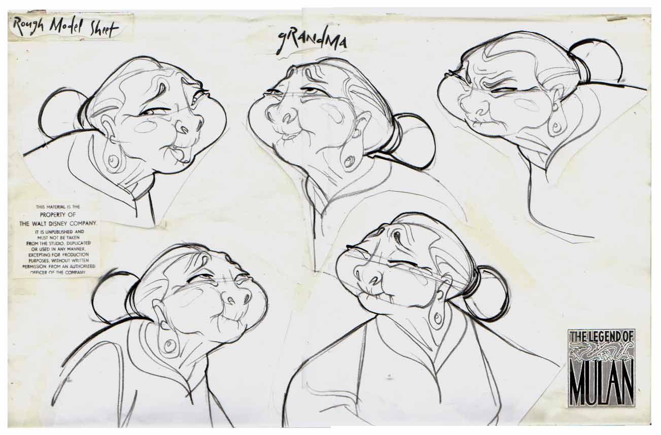 "Character Design Walt Disney : ""mulan walt disney animation studios website"