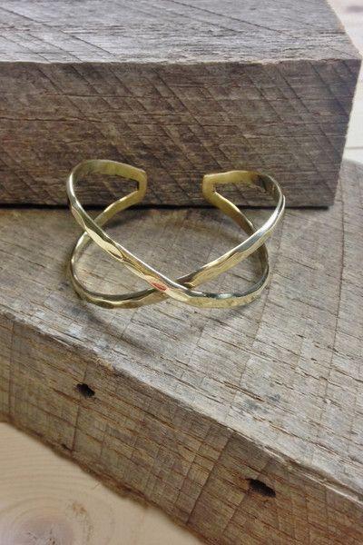 Hammered Narrow Cuff Bracelet
