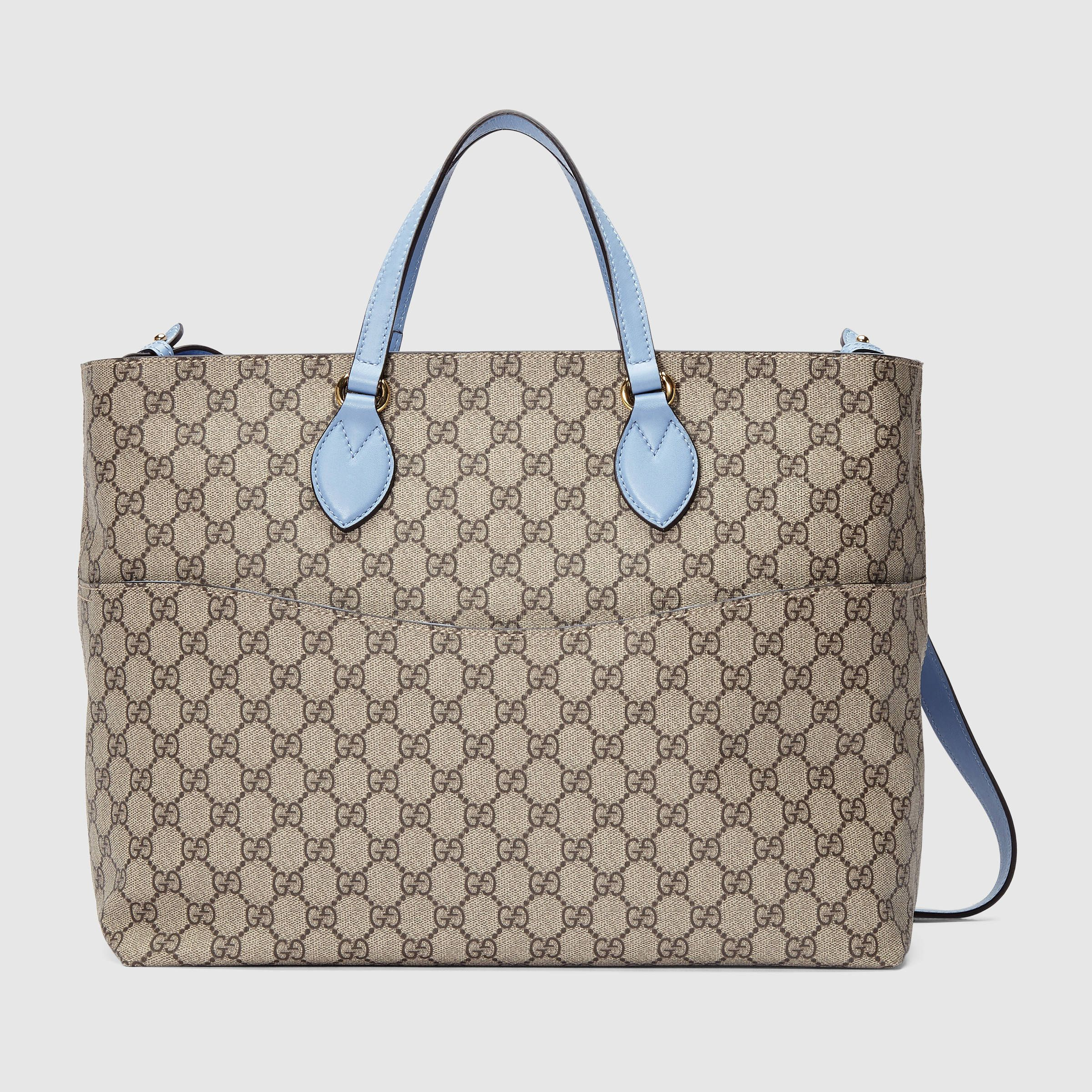 d1bb8915df50 Gucci GG Zoo Birds Diaper Bag, Brown/Blue - Neiman Marcus | Babies ...