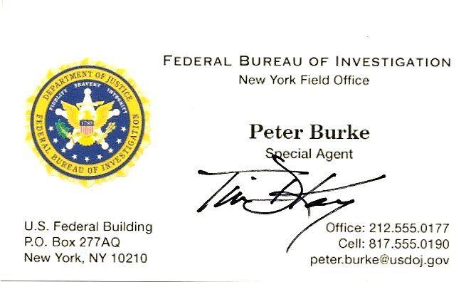 Fbi Business Card Federal Graphic Design Design Graphic Design
