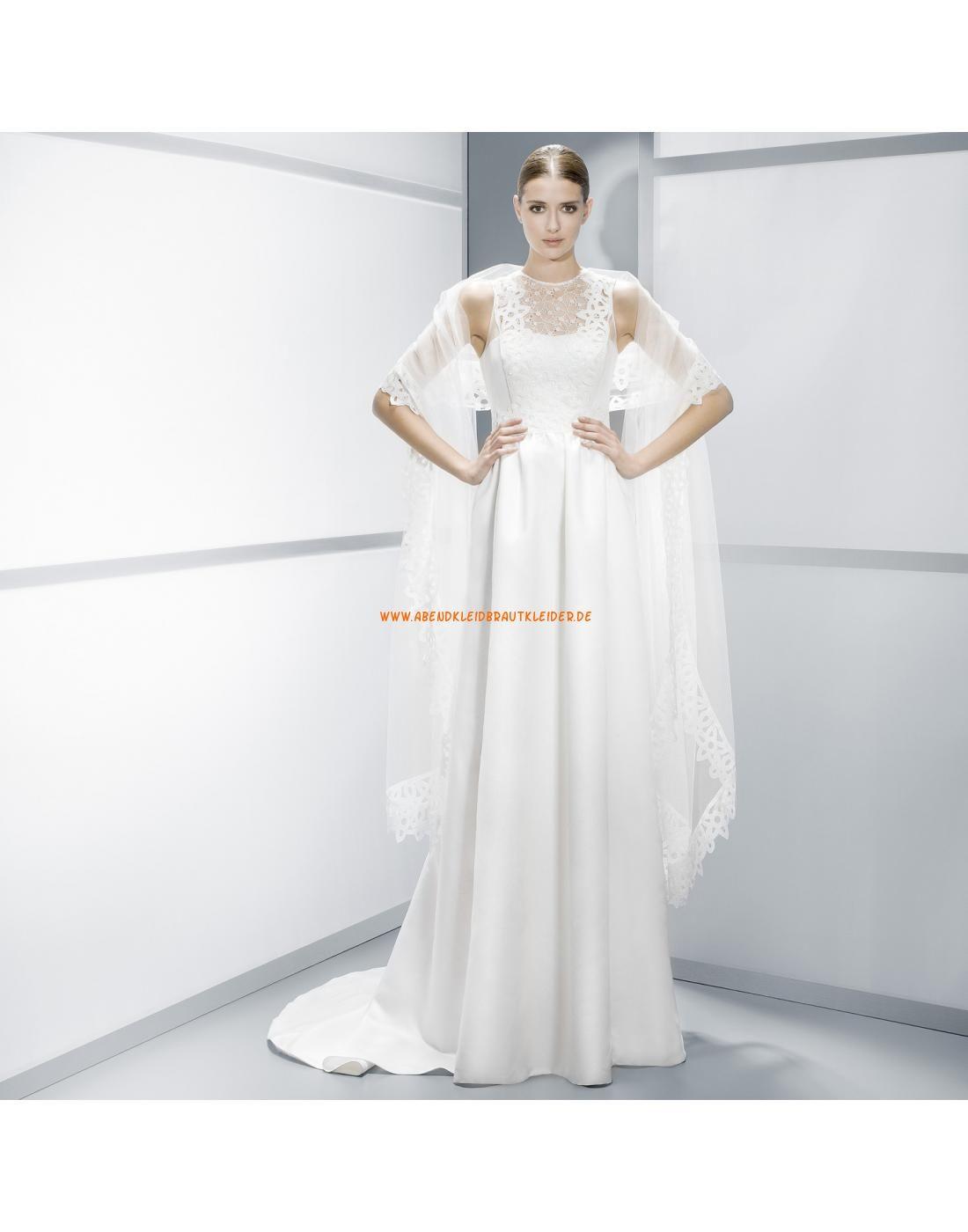 Glamouröse ärmellose Brautkleider aus Satin mit Schal - Jesús Peiró ...