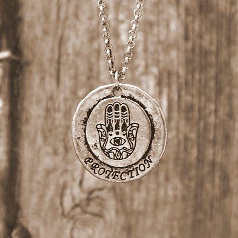 Metal 'Hamsa' Emulate Spiritual Chain - Copper Tone