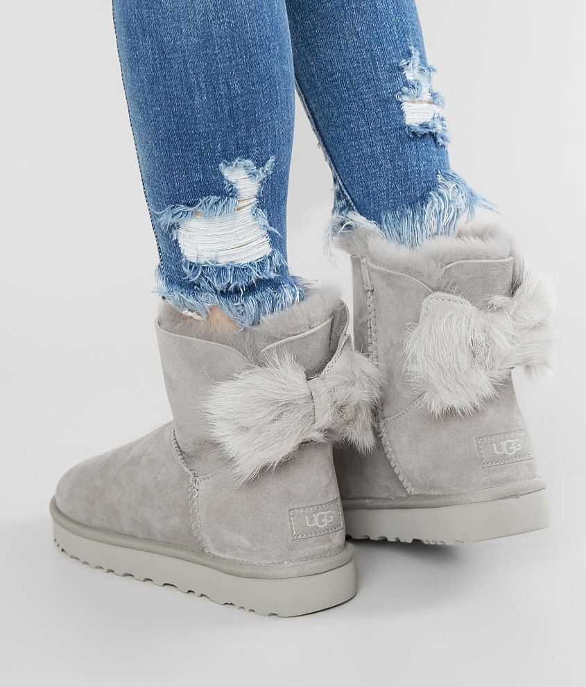 73f089d26d8 UGG® Fluff Bow Leather Mini Boot - Women's Shoes in Willow | Buckle ...