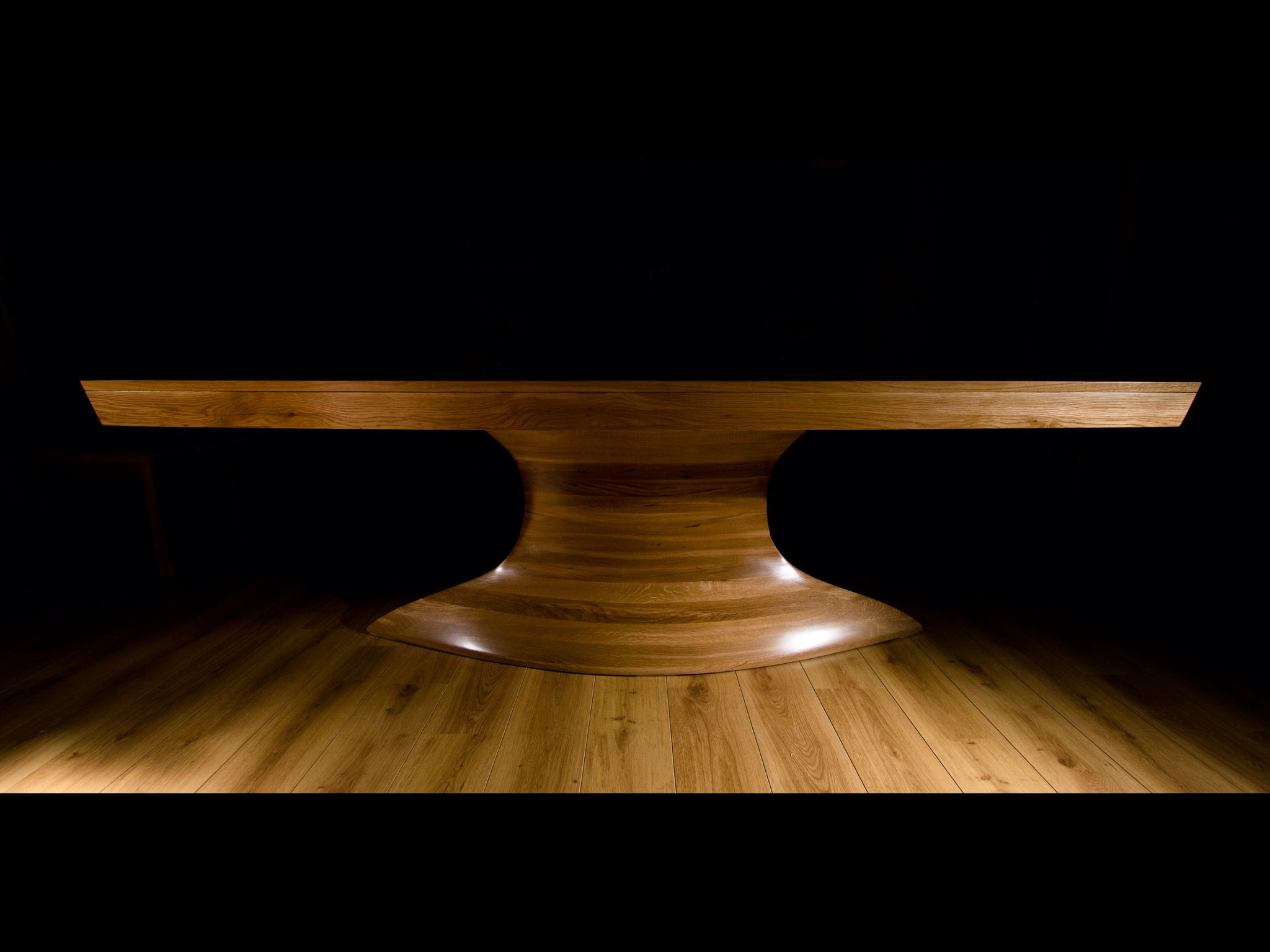 bespoke dining table handcrafted designed by john ireland