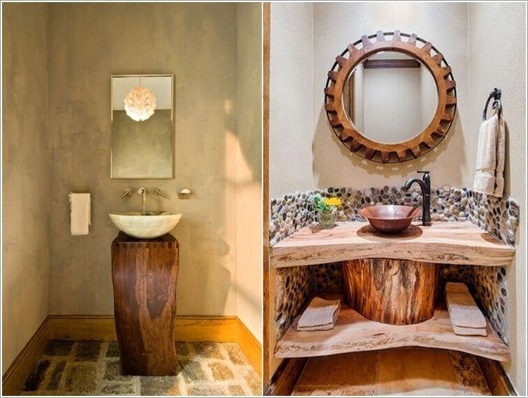 12 sorprendenti mobili da bagno con materiale di riciclo for Grandi bagni padronali