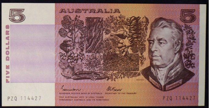 1985 Australia Five Dollars - PZQ   Australia, World coins, Australian money