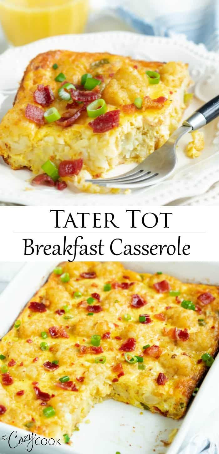 Tater Tot Breakfast Casserole (Make-Ahead!) - The Cozy Cook