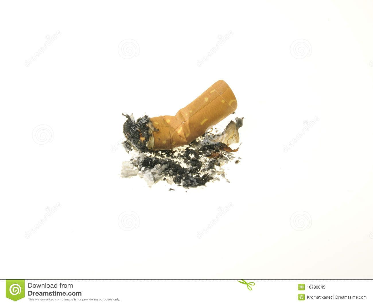 used Cigarettes | Used cigarette with burnt ashes.