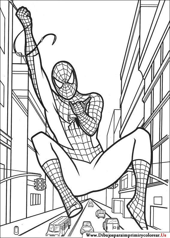 Dibujos de Spiderman para Imprimir y Colorear | colorear | Pinterest ...