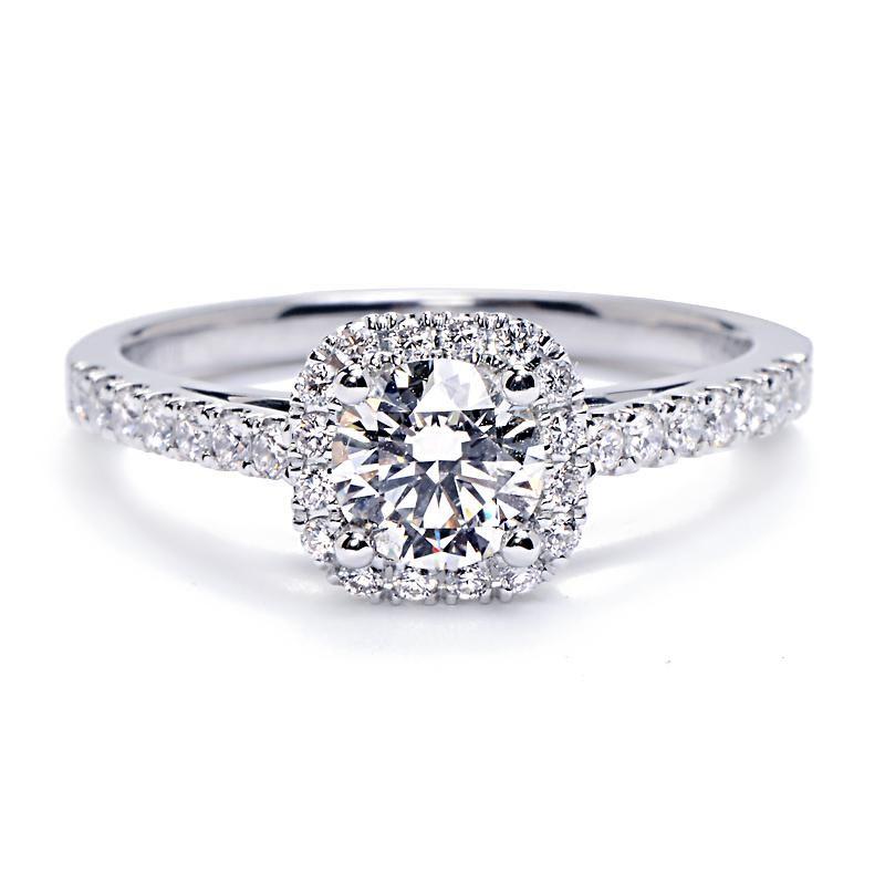 Cushion Cut Engagement Rings Under 2000 19